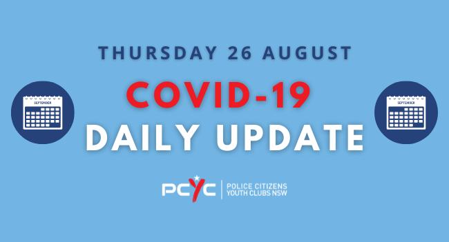 Covid-19 Updates: Regional Lockdown extended to 10 September   Thursday 26 August